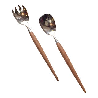 Mid-Century Norwegian Serving Utensils - A Pair