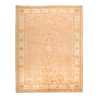 "Oushak Hand Knotted Area Rug - 9' 4"" X 11' 9"""