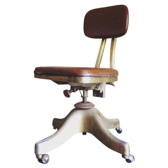 Image of Antique Shaw Walker Industrial Office Chair