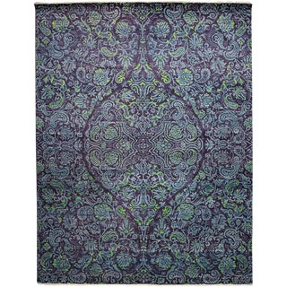 """New Purple Hand-Knotted Rug - 8'2"""" x 10'7"""""""