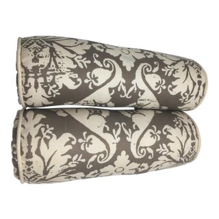 Fortuny Custom Bolster Pillows - A Pair