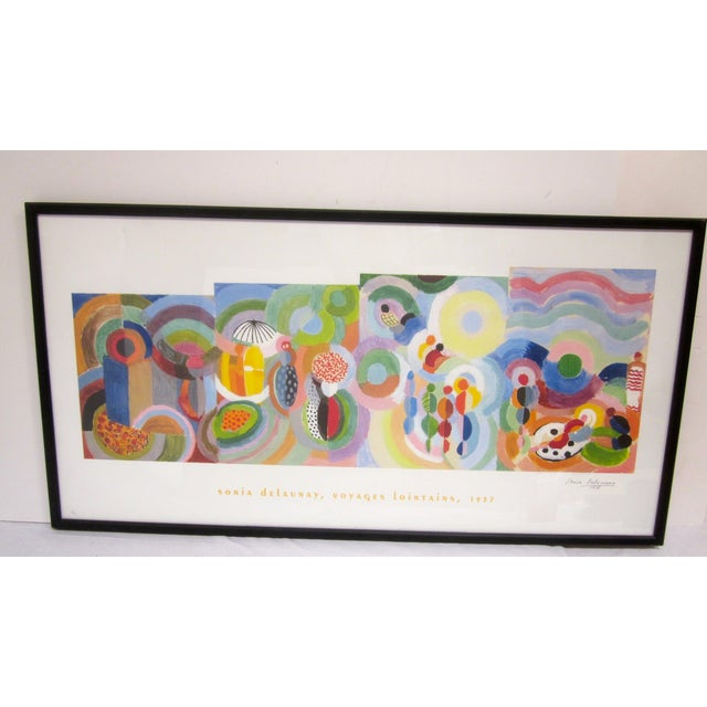 Sonia Delaunay Abstract Geometric Framed Art - Image 6 of 9