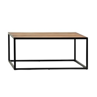 Leather Inlay Coffee Table