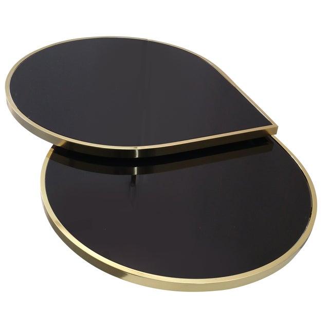 Dia Attri Swivel Glass Brass Coffee Table Chairish