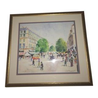 "Vincenzo Fioravanti ""Paris Street Scene 2"" Painting"