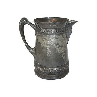 Antique Tarnished Silver Pitcher