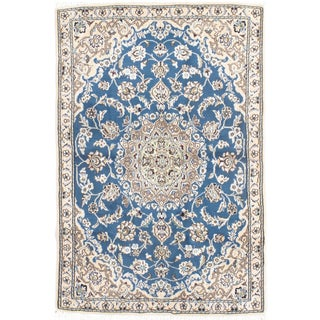 "Persian Nain Silk & Wool Rug - 2'11"" X 4'6"""
