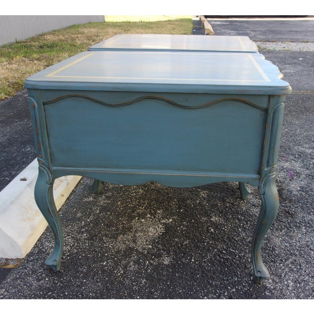 Vintage French Provincial Nightstands - A Pair - Image 9 of 10