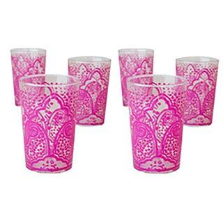 Ei Kef Pink Tea Glasses - Set of 6