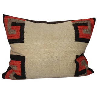 19th Century Navajo Saddle Blanket Weaving Pillow