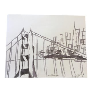San Francisco Original Ink Painting