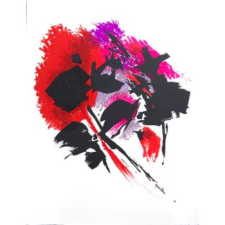 """Limited Edition Poster """"La Tache Rouge """"by Alfred Manessier, 1972"""