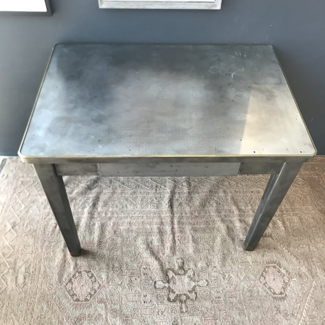 Vintage Industrial Metal Desk - Image 3 of 8