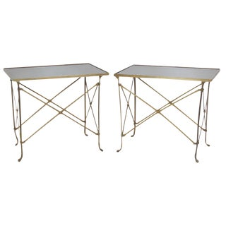 Slate Top Side Tables - A Pair