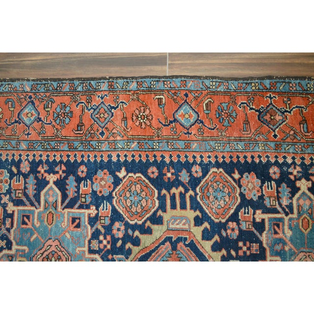 "Antique Persian Heriz Rug - 4'8"" X 6'2"" - Image 6 of 6"