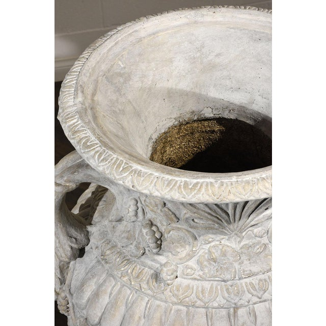 Pair of Grand Neoclassical-style Patio Urns - Image 6 of 10