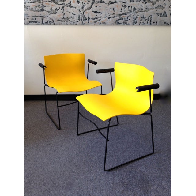 Image Of Yellow Handkerchief Chairs By Knoll International