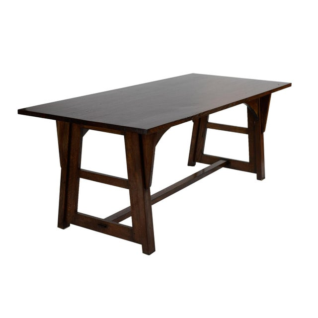 Limbert style mission dining table chairish for Mission style dining table
