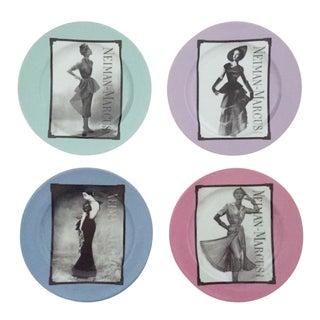 Neiman Marcus Fashion Design Dessert Plates - Set of 4