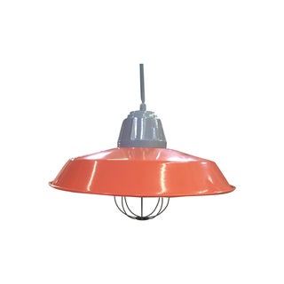 Orange Industrial Pendant Lamp