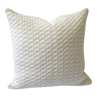 Sweater Knit Thick Cream Decorative Throw Zipper Pillow Cover