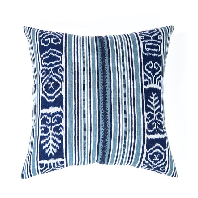 Indigo & Teal Guatemalan Ikat Pillow - Image 6 of 6