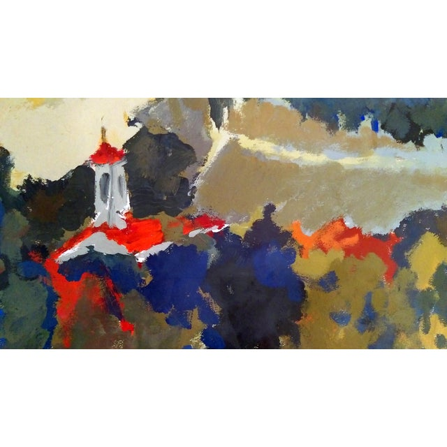 Nan Nalder Abstract Secluded Church Painting - Image 4 of 7