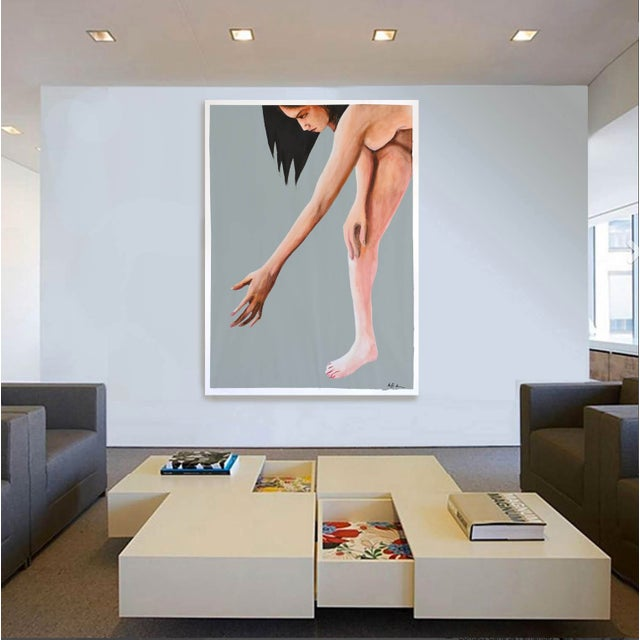 Contemporary Acrylic Painting - Reach - Image 5 of 9