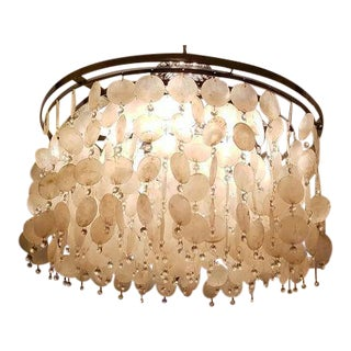 Capiz Shell & Brass Chandelier