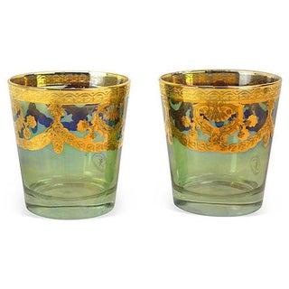 Vintage Italian Luster Cocktail Glasses - Pair