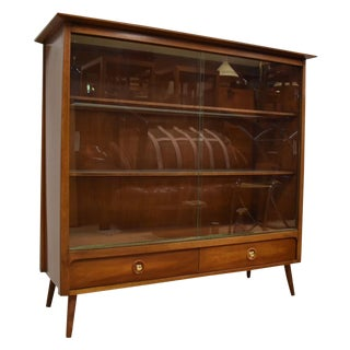 John Van Koert for Drexel Glass Bookcase
