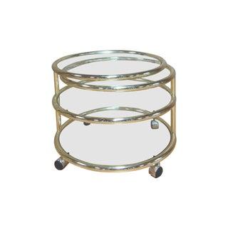 Brass Swiveling Coffee Table