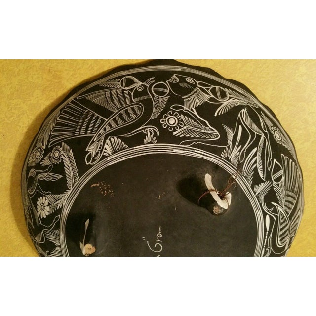 Mexican Handpainted Bowl With Birds, X. Guerrero - Image 7 of 8