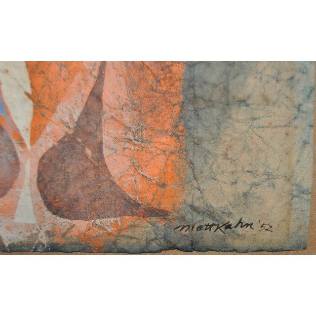 Image of Matt Kahn (1928–2013) Mid-Century Abstract C.1952