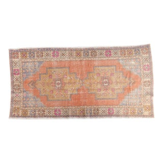 "Vintage Distressed Oushak Carpet - 4'5"" x 8'4"""