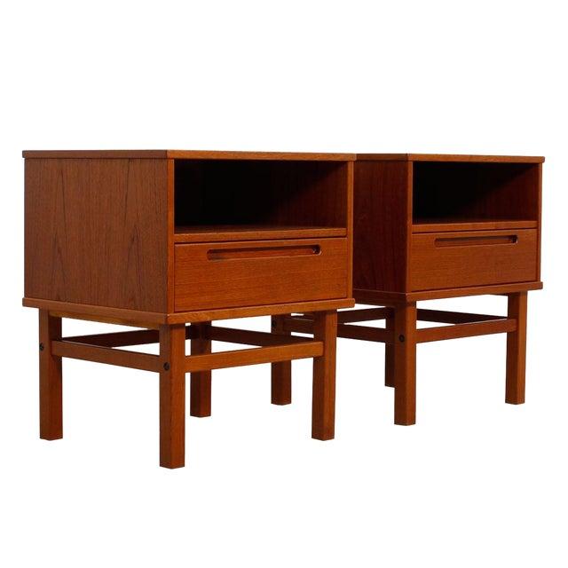 Torring Danish Modern Teak Nightstands/Side Tables - a Pair - Image 1 of 8