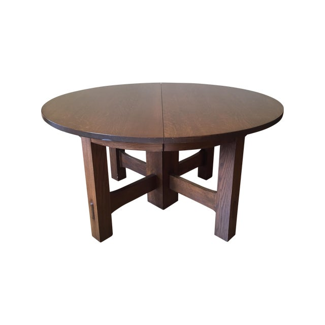 Stickley #634 Reproduction Oak Dining Table - Image 1 of 8