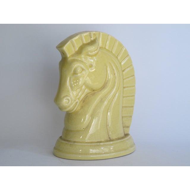 Yellow Art Deco Ceramic Horse Head - Image 3 of 8