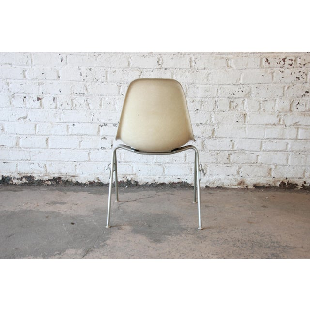 Charles Eames for Herman Miller DSS Stacking Chairs in Parchment - Set of 4 - Image 6 of 9