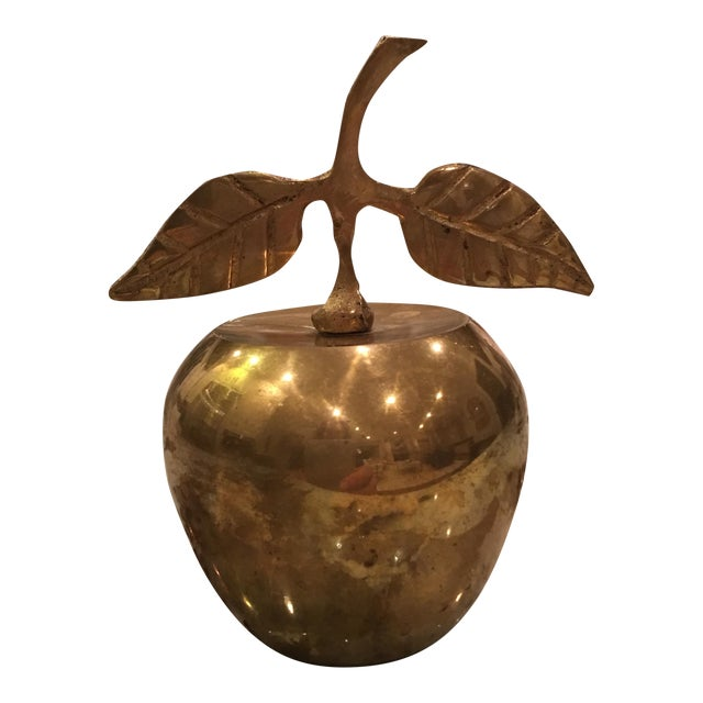 Vintage Brass Apple Bell - Image 1 of 6