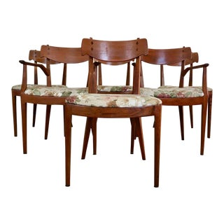 Kipp Stewart for Drexel Declaration Danish Style Dining Chairs - Set of 6