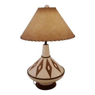 Mid-Century Lamp & Shade