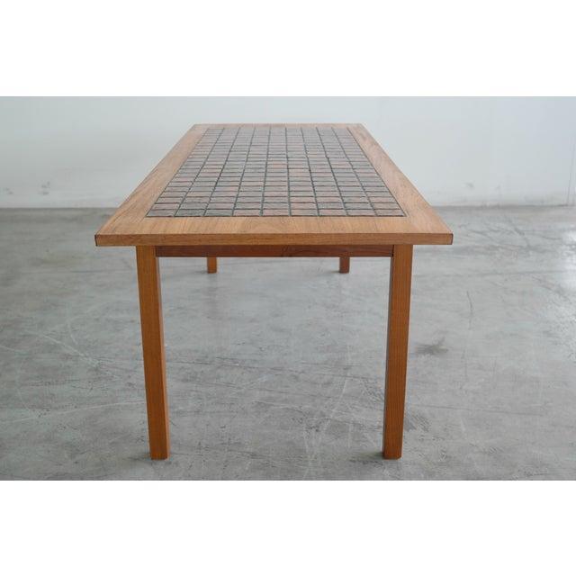 Image of Danish Mid-Century Teak Tile Top Coffee Table