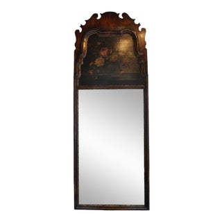 Queen Anne Style Floral Mahogany Mirror