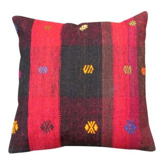 Turkish Handmade Embroidered Kilim Pillow Cover