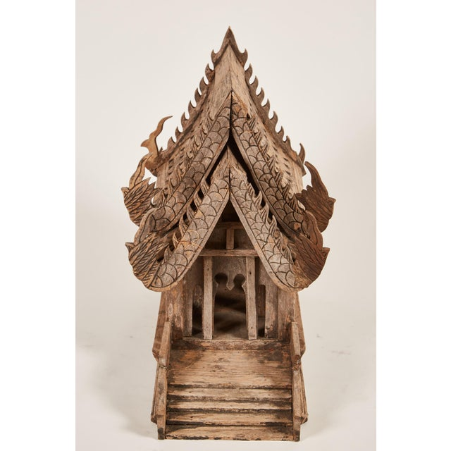 "20th Century Teak Spirit House of the Buddhist Temple ""Vihara"" in Thailand - Image 3 of 8"