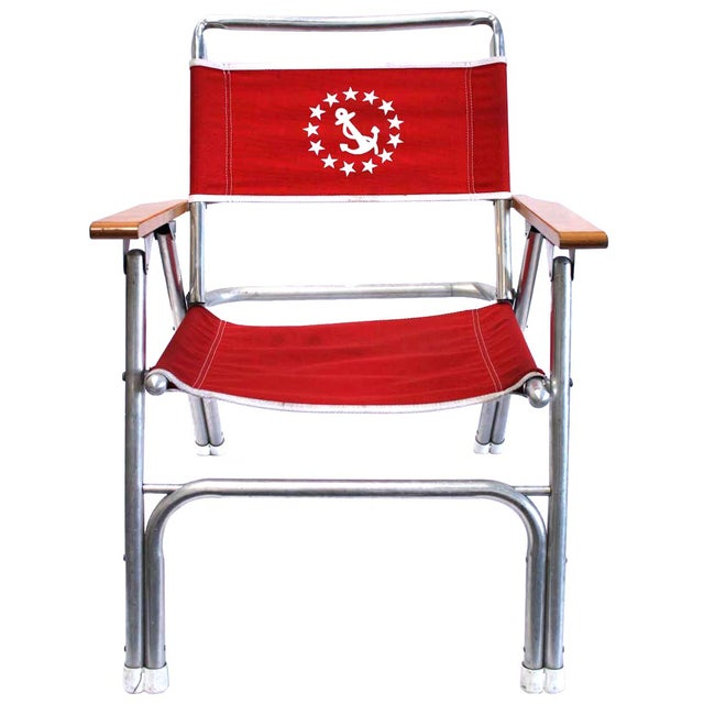 Vintage Nautical Crew Deck Chair - Image 1 of 8