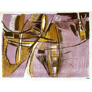 Jerry Opper Mid Century Abstract in Lavender
