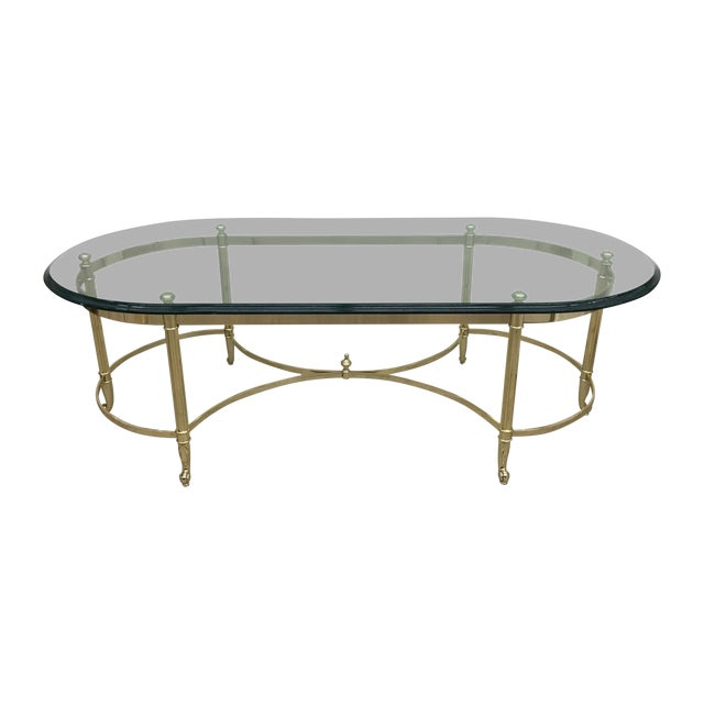 Image of Brass And Glass Coffee Table