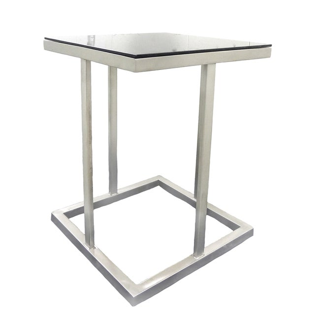 Metal & Glass Side Table - Image 1 of 3